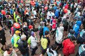 Athletes taking part in Stramilano half marathon — Stock Photo