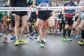 Athletes taking part in Stramilano half marathon — Stockfoto