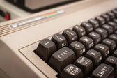 Detalj av vintage dator på robot och beslutsfattare Visa — Stockfoto