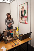 Exhibitor at Robot and Makers Show — Stockfoto