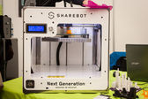 3d printer at Robot and Makers Show — Foto Stock