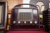 Vintage radio at Robot and Makers Show — Stock Photo