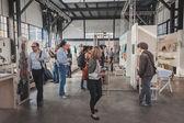 People at Ventura Lambrate space during Milan Design week — Stock Photo
