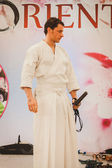 Katana sword fighter at Orient Festival in Milan, Italy — ストック写真