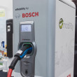 ������, ������: Bosch charging station at Solarexpo 2014 in Milan Italy