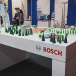 ������, ������: Detail of Bosch stand at Solarexpo 2014 in Milan Italy