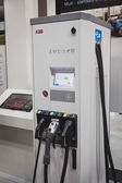 ABB charging station at Solarexpo 2014 in Milan, Italy — Stock Photo