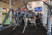 HyQ robot on display at Solarexpo 2014 in Milan, Italy — Stock Photo