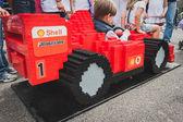 Ferrari car made of Lego bricks in Milan, Italy — Stock Photo