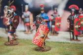 Toy legionary on display at Militalia in Milan, Italy — Stock Photo