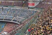 50.000 teenagers take part in a religious ceremony at San Siro stadium in Milan, Italy — Stock Photo