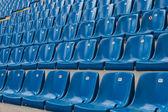 Perspective of many empty stadium seats — Stock Photo