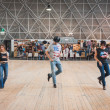 People dancing at Rocking the Park event in Milan, Italy — Stock Photo #48779837