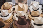 Cowboy hats on display at Rocking the Park event in Milan, Italy — Стоковое фото