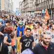 People taking part in Milano Pride 2014, Italy — Stock Photo #48946901