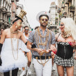 People taking part in Milano Pride 2014, Italy — Stock Photo #48946963
