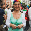 People taking part in Milano Pride 2014, Italy — Stock Photo #48947025