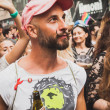 People taking part in Milano Pride 2014, Italy — Stock Photo #48947159