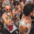 People taking part in Milano Pride 2014, Italy — Stock Photo