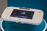 Close up of white Nintendo Wii U gamepad device — Stock Photo
