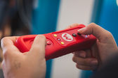 Close up of red Nintendo Wii mini controller — Stock Photo