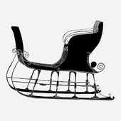 Santa´s winter sleigh — Stock Vector