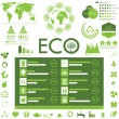 Ecology info graphics collection - Stock Vector
