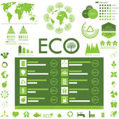 Ecology info graphics collection — Stockvektor