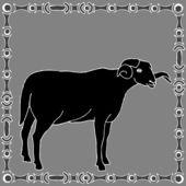 Beran horoskop znamení — Stock vektor