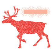 Raindeer Rudolf — Stock Vector