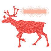 Raindeer Rudolf — Stock Vector