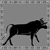 Taurus horoscope sign — Stock Vector