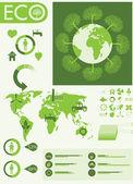 Ekologie info grafická sbírka — Stock vektor