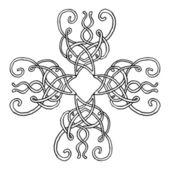 Ornament cross — Stock Vector