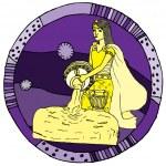 Aquarius horoscope sign — Stock Vector #17991005