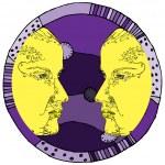 Gemini horoscope sign — Stock Vector #18014665