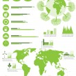 Ecology info graphics collection — Stock Vector #18094459