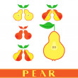 Постер, плакат: Pear label