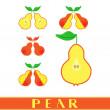 ������, ������: Pear label