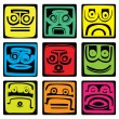 Stock Vector: Mayan pictograms