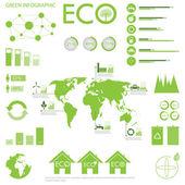 Collection de graphiques info écologie — Vecteur