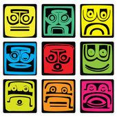Mayan pictograms — Stock Vector