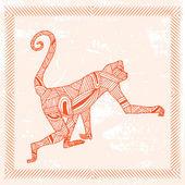 знак зодиака обезьяна — Cтоковый вектор