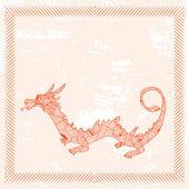 знак зодиака дракон — Cтоковый вектор
