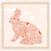Rabbit zodiac sign — Stock Vector