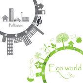 Eco world illustration — Stock Vector