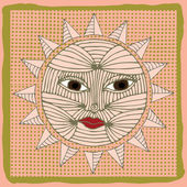 Sun illustration — Stock Vector