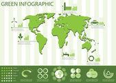 Green info graphics — Stock Vector
