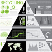 Ecology info graphics — Stock Vector