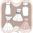 Stock Vector: Dress collection